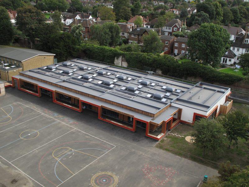 Prefabricated roof for Parish School