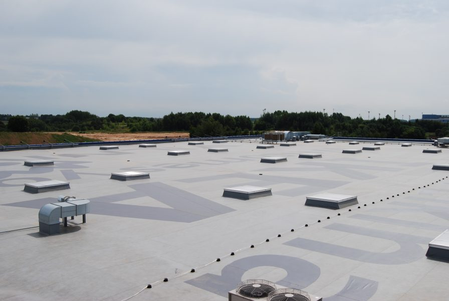 flat roof with rooflights