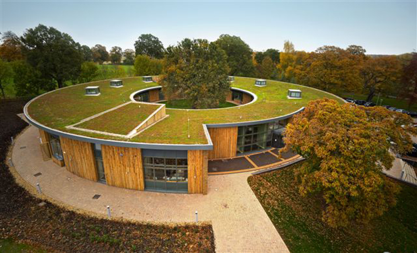 green roof system for the British horse society