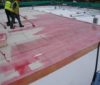 low foam adhesive for roofing membranes
