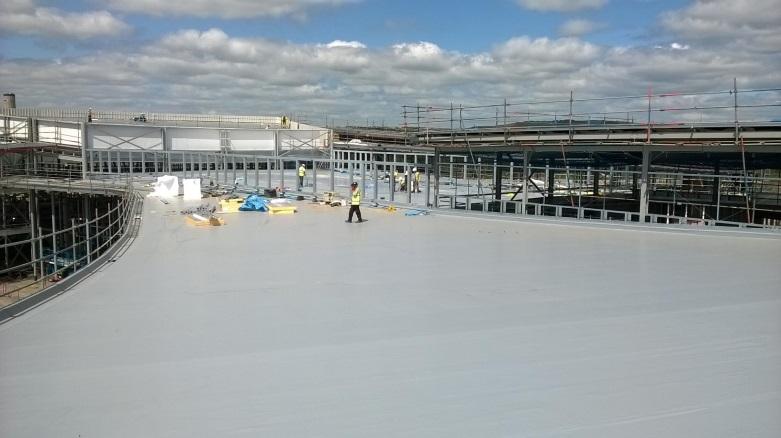 ysgol bae baglan complete roof