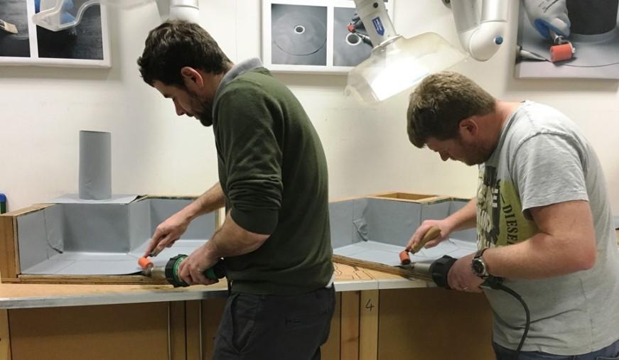 trainees welding