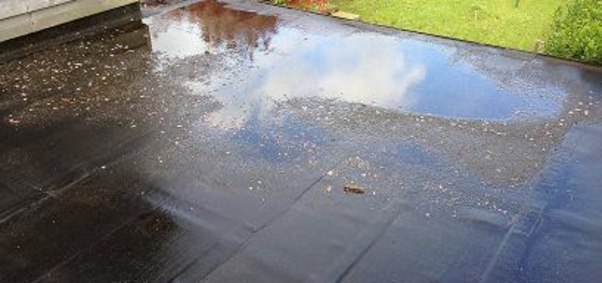 Will Ponding On My Flat Roof Affect Waterproofing
